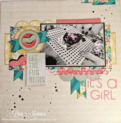 Sweet Nothings Paper Co.: 12x12 Layout: It's A Girl
