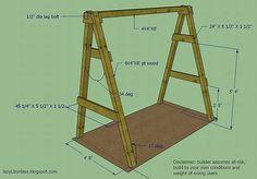 Αποτέλεσμα εικόνων για diy freestanding porch swing frame
