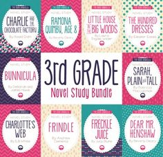 Novel study bundle includes 10 of our novel studies selected for third grade students.Save 30% with the purchase of this bundle!