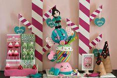 Sugar Rush Candy Party with Really Cute Ideas via Kara's Party Ideas | Kara'sPartyIdeas.com #WreckItRalph #SugarRush #Baking #Party #Ideas #...