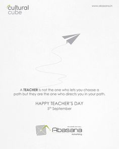 Happy Teacher's Day Cultural Cube www.