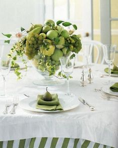 green fruited centerpieces