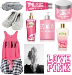 """LOVE PINK"" by almendrajessen ❤ liked on Polyvore"