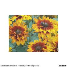Golden Rudbeckias Floral Doormat
