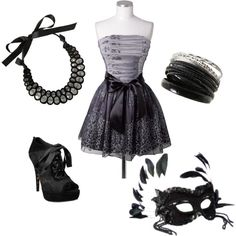 Masqurade <3, created by kaitlyn-marie-1 on Polyvore