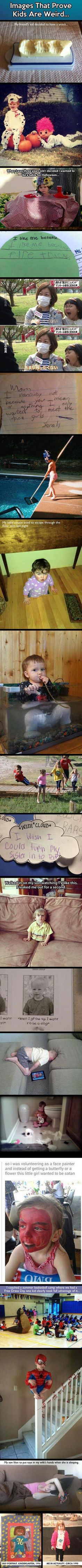 Images That Prove Kids Are Weird funny family cute kids weird adorable parenting humor funny pictures funny kids