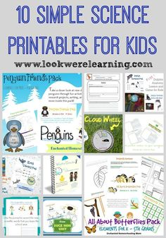 10 Simple Science Printables for Kids from www.lookwerelearning.com - Great for homeschoolers and afterschoolers!