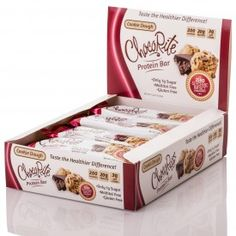 ChocoRite Protein Bars Cookie Dough 12 Count Box