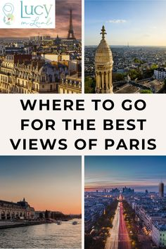 Where to go for the best views of Paris: River Cruise on the Seine, Arc de Triomphe, Terrasse du Printemps Haussmann, Parc de Belleville, and more! Paris France Travel, Paris Travel Guide, France Europe, Travel Guides, Travel Europe, Travel Hacks, Travel Advice, Paris Things To Do, Europe Destinations