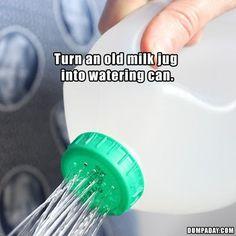 Quick tip, how to make a #wateringcan for your garden #GardenIdeas