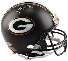 Aaron Rodgers NFL Packers Signed Black Matte Helmet Limited Edition JSA LOA