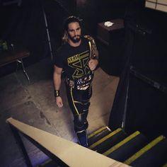 WWE World Heavyweight and United States Champion Seth Rollins.