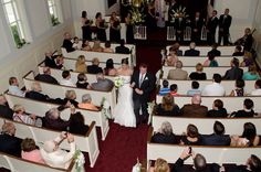 Wedding ceremony held within The Henry Ford's Martha Mary Chapel