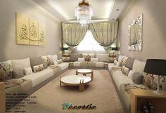 Salon marocain – salon marocain design – décoration – Décostic Luxury Living Room, Moroccan Home Decor, Home, Colorful Interior Design, Media Room Seating, Luxury House, Interior Design, Luxury Interior, Interior Deco