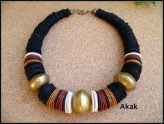 www.cewax.fr aime ce collier style ethnique tendance tribale chic perle or et noir les bijoux d'akak - Page 6 - les bijoux d'