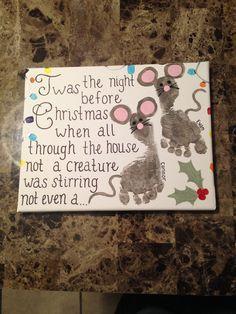 Reindeer footprints on canvas   'Tis the Season   Pinterest ...
