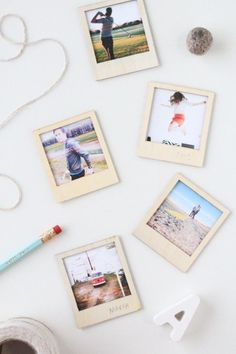 DIY wooden polaroid gift set for Valentine's Day