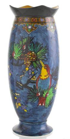 Carlton Ware Rare Bird AND Pine Cone Vase Pattern 3046 21cm Tall   eBay