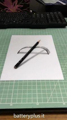 3d Pencil Drawings, 3d Art Drawing, Art Drawings Sketches Simple, Easy Drawings, Easy 3d Drawing, Random Drawings, Drawing Ideas, Illusion Drawings, Illusion Art