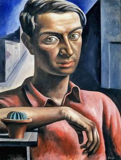 Antonio Berni - Self Portrait with Cactus, 1934 Social Realism, Sketch Painting, Color Of Life, Artist Names, Art World, American Art, Female Art, Illustration Art, Rene Magritte