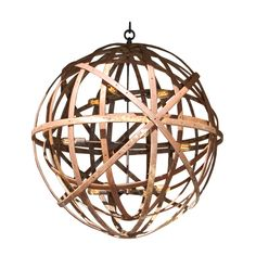 Sphere in Sphere Industrial Chandelier | From a unique collection of antique and modern chandeliers and pendants  at http://www.1stdibs.com/furniture/lighting/chandeliers-pendant-lights/