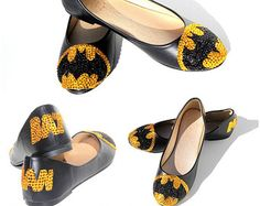 Batman flats for when you want to change out of your heels... Would also make a cute bridesmaid gift