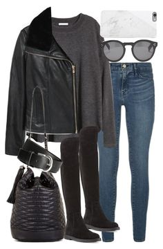 """""""Untitled #772"""" by el-wore-what ❤ liked on Polyvore featuring Frame Denim, H&M, Illesteva, MANGO, Vince, BCBGMAXAZRIA, Native Union, eleanorcalderinspired, eleanorcalderstyle and eleanorcalderfashion"""