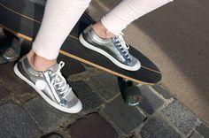 Vans Old Skool, Tennis, Sneakers, Fashion, Metallic Leather, Pretty, Bags, Women's, Moda