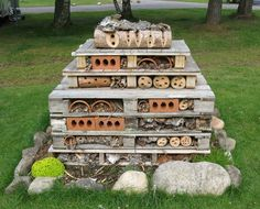 bug condo.  Building homes for beneficial insects