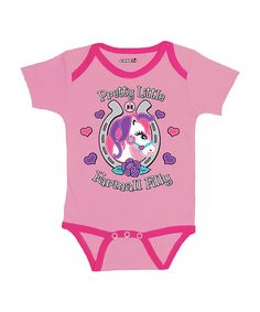 Look at this Pink 'Farmall Filly' Bodysuit - Infant on #zulily today!