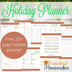 A Simple Plan for the Holidays - Why and how to make a plan for the holidays and a FREE 20+ page holiday planner