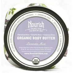 Nourish Organic Body Butter Lavender Mint - The ultimate moisturizer this light and creamy blend of organic whipped shea butte concentrated coconut and olive oil and antioxidant-rich Vitamin E smoothes on easily absorbs quickly and leaves even the driest skin soft and supple