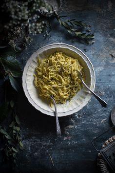 Creamy Taglierini Pasta with Saffron Sauce   Hortus Italian Cooking