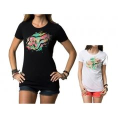2013 Fox Racing Wild Side Crew Neck Casual Motocross Short Sleeve T-Shirt Tee