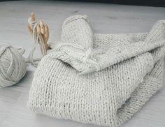 deken breien met 3 draden tegelijk
