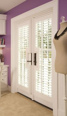 Good way to add privacy to master bath french doors