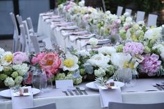 WOW!  What beautiful spring wedding tables.    Honey of a Thousand Flowers - Journal