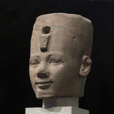 Head from a monumental statue of King Thutmose I, Hatshepsut's father.
