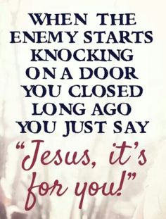 Jesus it's for you