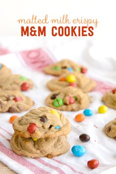 A Chocolate Chip cookie recipe that features the addition of malted milk and M&M's® Crispy candy. This is my favorite M&M Cookies recipe.