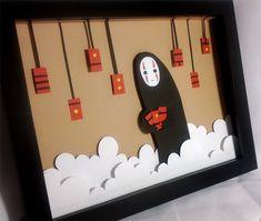 Spirited Away No Face Shadowbox - Made To Order. $45.00, via Etsy.