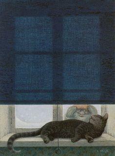 Lennart Helje (Swedish, b. 1940). Looking in.
