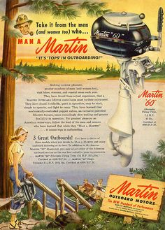 Martin Outboard Motors Vintage Look Reproduction Metal Sign 8122487
