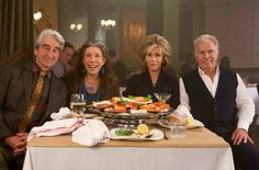 """Sam Waterston, Lily Tomlin, Jane Fonda and Martin Sheen in the Netflix Original Series """"Grace and Frankie"""". Photo by Melissa Moseley for Netflix. Sam Waterston, Martin Sheen, Jane Fonda, Bill Burr, Tessa Thompson, Netflix Original Series, Netflix Series, Tv Series, Series Lgbt"""