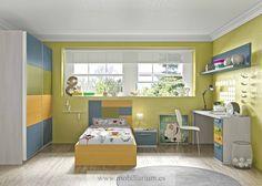 Dormitorios Juvenil Lanmobel - Camas Individuales - Composición 48  - Catálogo Team Juvenil - Mobiliarium