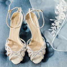 Brides.com: Stylish, Sparkly Wedding Shoes . Strappy Kate Spade Sandals. For added fun, pair these strappy Kate Spade sandals with a bright, bold pedicure. We're loving mint green at the moment.   Browse more formal wedding accessories.