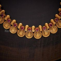 1 new message Gold Temple Jewellery, Indian Gold Jewellery, Amrapali Jewellery, 1 Gram Gold Jewellery, Gold Jewelry, Jewelry Design Earrings, Beaded Jewelry, Necklace Designs, Gold Bangles Design