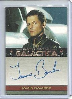2006 Battlestar Galactica Season 1 Autograph Jamie Bamber As Captain Apollo VL