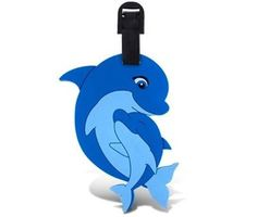 Dolphin Family Baby Luggage Tag Tags Backpack Diaper Bag ID Badge USASeller