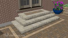 """With a large 84"""" wide stoop and 3 cascading steps, this step design is nothing short of grand. Downloadable plan includes how-to's and material list."""
